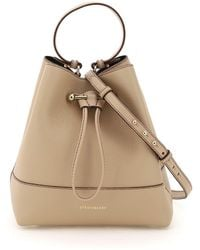 Strathberry Lana Osette Midi Bucket Bag Os Leather - Natural