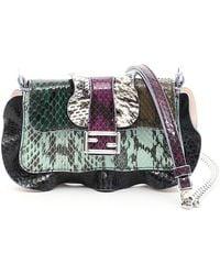 Fendi - Multicolor Elaphe Micro Baguette Bag - Lyst