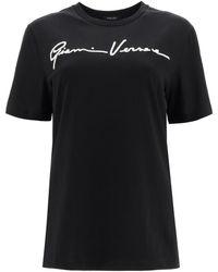 Versace Gv Signature T-shirt - Black
