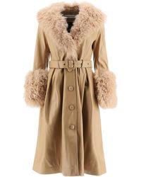 Saks Potts Foxy Leather Coat - Natural