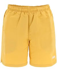 Stussy Stock Swim Trunks - Yellow
