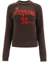 DSquared² Sweater With Love Is... Intarsia - Multicolor