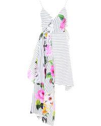 Off-White c/o Virgil Abloh - Asymmetric Dress With Floral Print - Lyst
