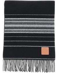 Loewe Multicolour Striped Scarf - Black