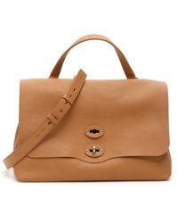 Zanellato Pura Postina M Bag Os Leather - Brown