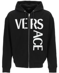 Versace - Logo Print Hoodie S Cotton - Lyst
