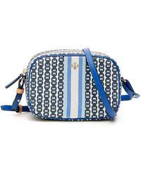 Tory Burch Gemini Link Canvas Mini Bag - Blue