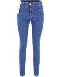 Stella McCartney All-over Logo Jeans - Blue