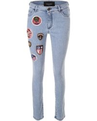 Mr & Mrs Italy - Skinny Jeans With Patches - Lyst