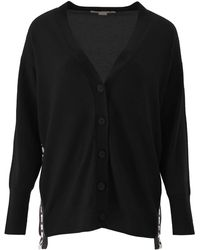 Stella McCartney Cardigan With Logo Bands - Black