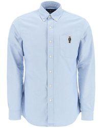 Polo Ralph Lauren Oxford Shirt Bear Embroidery - Blue