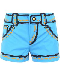 Moschino Capsule Printed Shorts - Blue