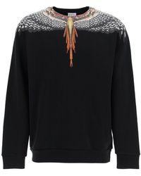 Marcelo Burlon Sweatshirt With Grizzly Wings Print S Cotton - Black
