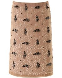 N°21 Lace Skirt With Embroidery - Pink