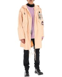 Raf Simons Cotton Parka With Patch - Pink