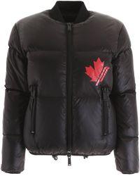 DSquared² Logo Puffer Jacket - Black