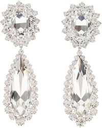 Alessandra Rich Crystal Drop Earrings - Metallic
