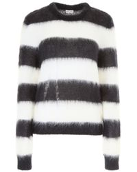 Saint Laurent - Striped Pullover - Lyst