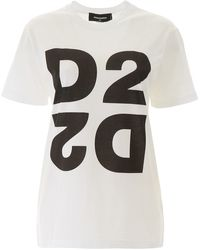DSquared² - T-SHIRT MAXI STAMPA D2 - Lyst
