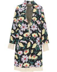 Marni - Floral Print Coat - Lyst