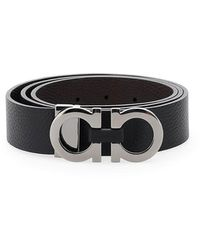 Ferragamo Double Gancio Belt - Black