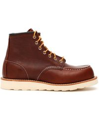Red Wing Moc Toe Boots 08138 - Brown