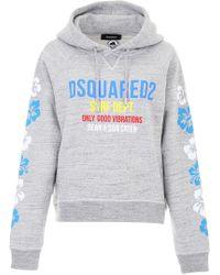 DSquared² - Printed Hoodie - Lyst