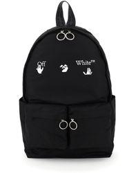 Off-White c/o Virgil Abloh Nylon Backpack With Logo Print - Black