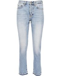 Saint Laurent - Five Pockets Jeans With Embroidery - Lyst