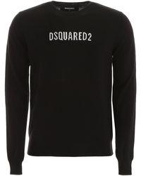 DSquared² Pullover Logo - Nero