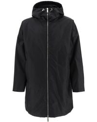 DSquared² Parka With Logo Print Xs Technical - Black