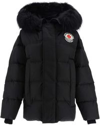 DSquared² Down Jacket With Fur - Black