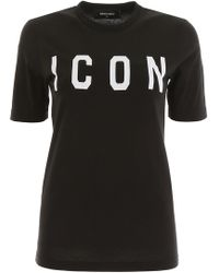 DSquared² T-Shirt Stampa Icon - Nero
