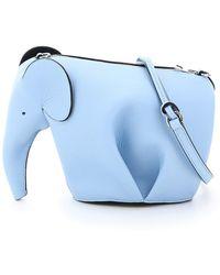 Loewe MINI BAG ELEPHANT - Blu