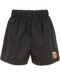 Prada - Logo Patch Nylon Shorts - Lyst