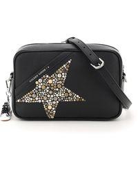 Golden Goose Deluxe Brand Crossbody Studded Star Bag - Black