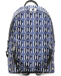 Dolce & Gabbana Blue Logo Backpack