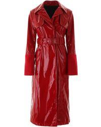 Kirin Vinyl Trench Coat - Red