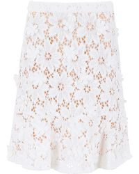 MICHAEL Michael Kors Lace Skirt - White
