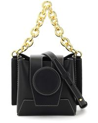 Yuzefi Daria Mini Bucket Leather Bag Os Leather - Black