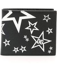 Dolce & Gabbana Star Print Wallet - Black