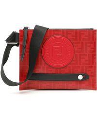 Fendi Borsa Messenger Stamp - Rosso