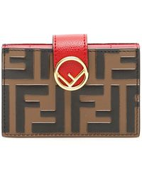 Fendi - F Is Leather Cardholder - Lyst