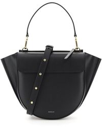 Wandler Hortensia Medium Bag Os Leather - Black