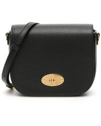 Mulberry Grain Leather Small Darley Satchel Bag - Black