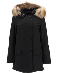 Woolrich Arctic Parka With Murmasky Fur M Technical,fur,cotton - Black