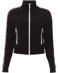 Miu Miu Sweatshirt With Logo Bands - Black