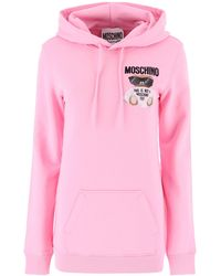 Moschino Micro Teddy Bear Hoodie - Pink