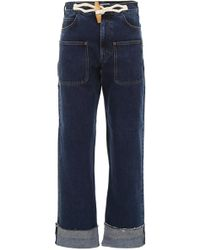 JW Anderson Jeans With Toggle - Blue