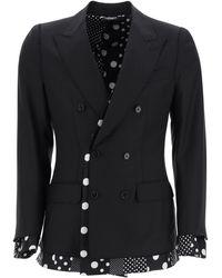 Dolce & Gabbana Sicilia Double-breasted Jacket 48 Wool - Black